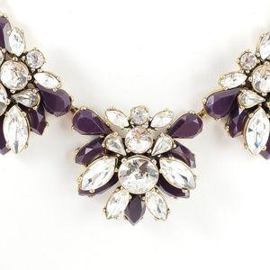 J. Crew Jewelry - J. Crew Statement Necklace Dark Eggplant Stones